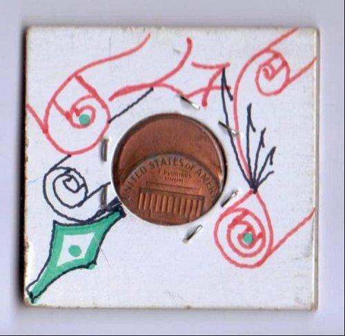 1988 P red strike error struck off center Lincoln Cent 50 %