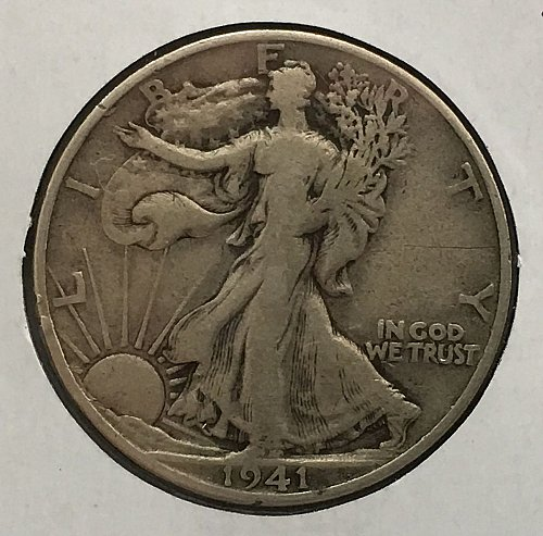 1941 S Walking Liberty Half Dollar