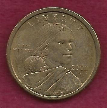 US $1 Dollar 2000 D - Sacagawea Coin