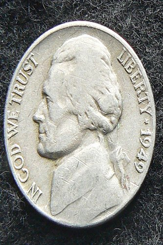 1949 P Jefferson Nickel (VG-8)