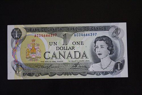 1973 CANADA ONE DOLLAR BANKNOTE