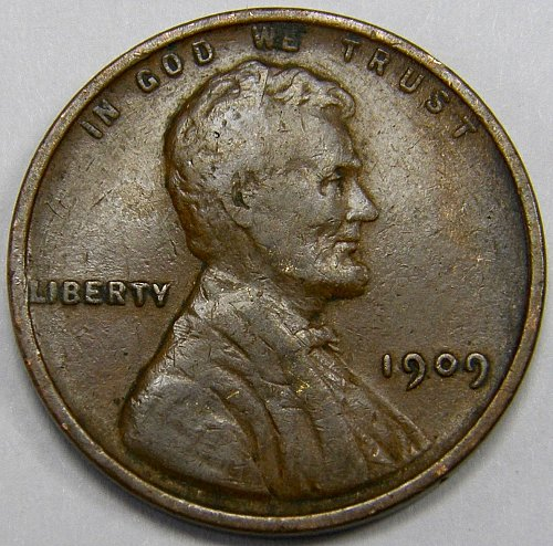1909 P Lincoln Wheat Cent #3