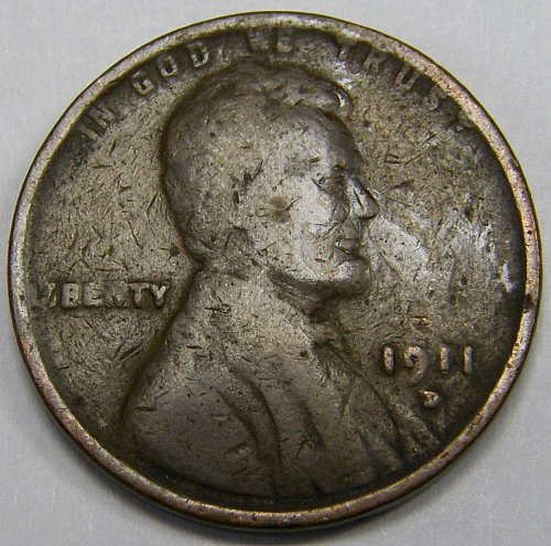 1911 D Lincoln Wheat Cent #4