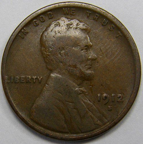 1912 S Lincoln Wheat Cent #6