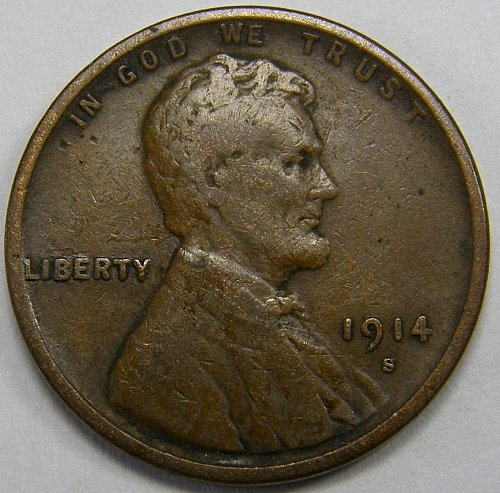 1914 S Lincoln Wheat Cent #8