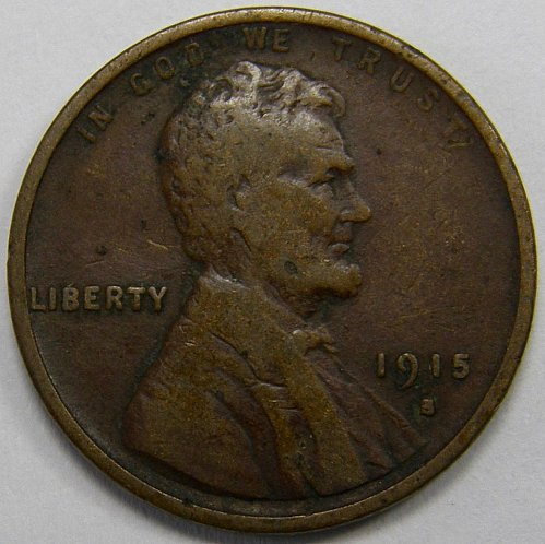 1915 S Lincoln Wheat Cent #5