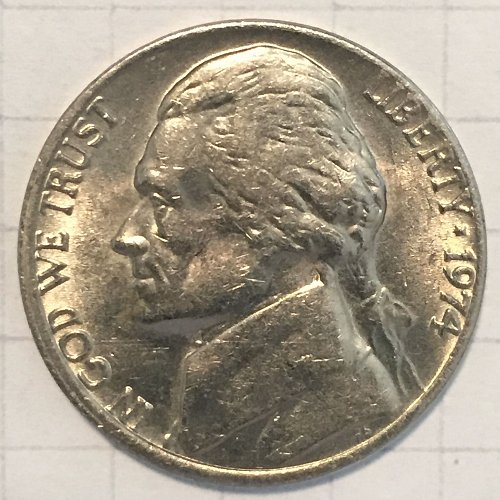 1974 P Jefferson Nickel