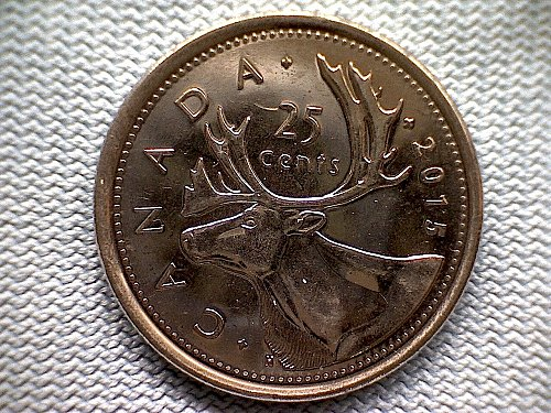 2015 CANADA TWENTY-FIVE CENT  QUEEN ELIZABETH 11
