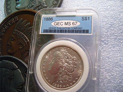 1886  Morgan Silver Dollar MS 67