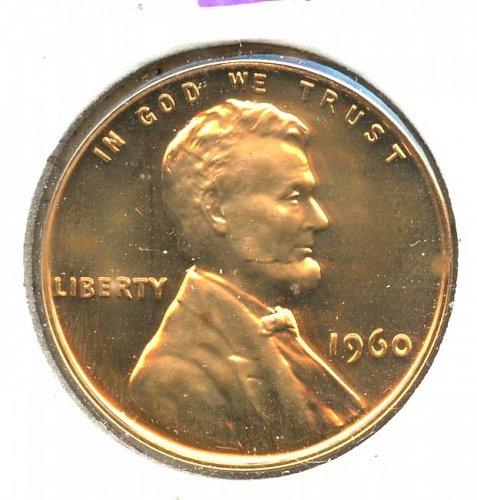 1960 P memorial cent Proof Small Date Philadelphia