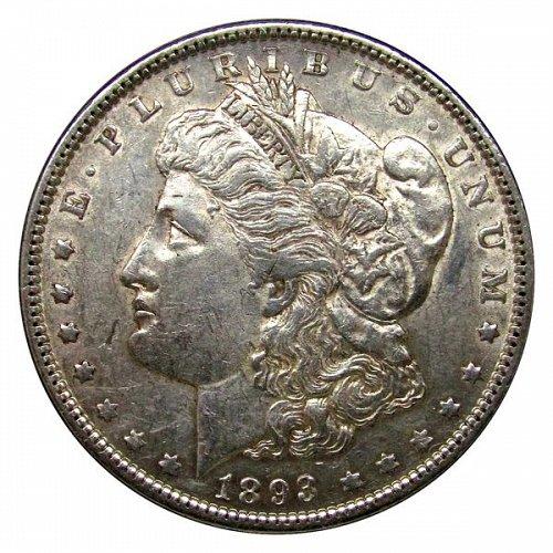 1893 Morgan Silver Dollar - AU