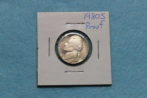 1980 S Jefferson Nickel