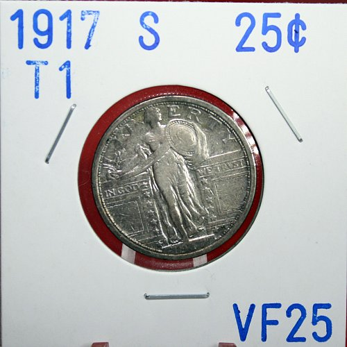 1917 S T1  STANDING LIBERTY QUARTER
