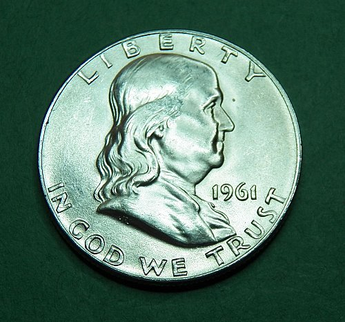 1961 D Franklin Half Dollar  Gem Brilliant Uncirculated Coin   f84