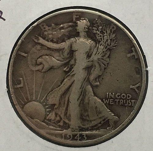 1943 P Walking Liberty Half Dollar - Toned