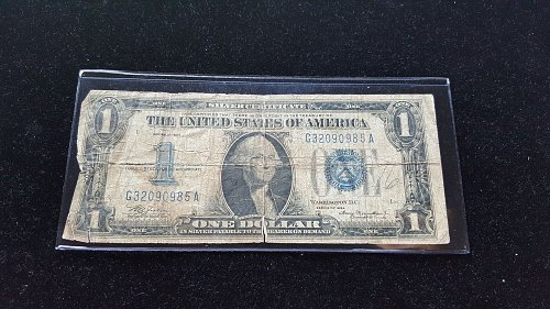 "1934 ""Funny Back"" Silver Certificate Heavily Circulated"