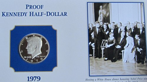 1979 S KENNEDY HALF ON COLLECTOR BOARD