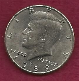 US $ Half Dollar 1989 D - Kennedy Half