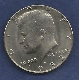 US $ Half Dollar 1982 P - Kennedy Half