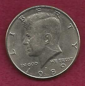 US $ Half Dollar 1989 P - Kennedy Half