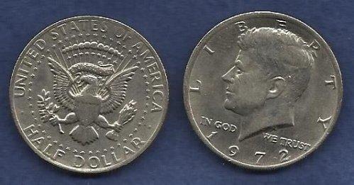 US $ Half Dollar 1972 - Kennedy Half