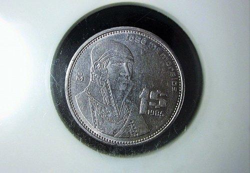 1985 Mexico 1 Peso