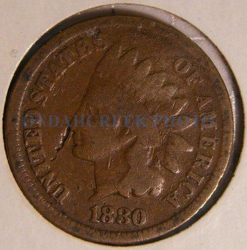 1880 Indian Head Cent Good