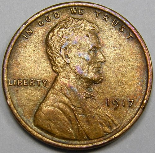 1917 P Lincoln Wheat Cent #4