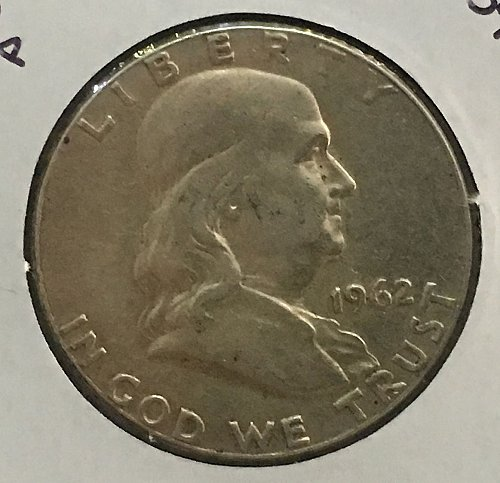 1962 P Franklin Half Dollar