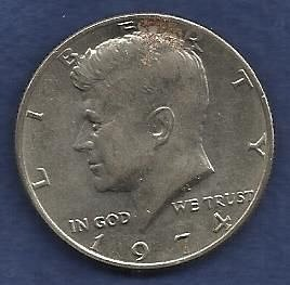US $ Half Dollar 1974 - Kennedy Half