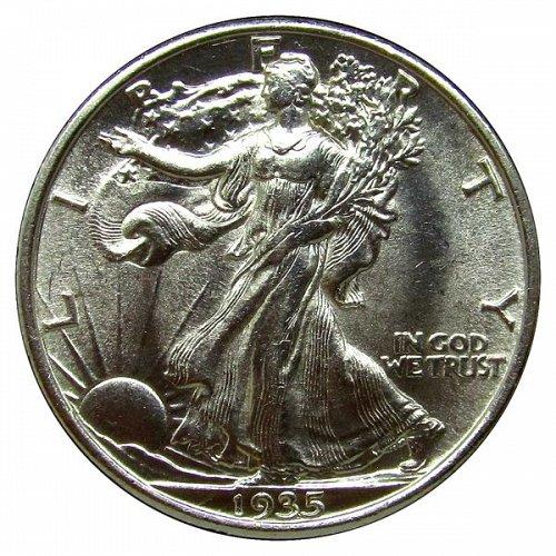 1935 Walking Liberty Half Dollar - BU