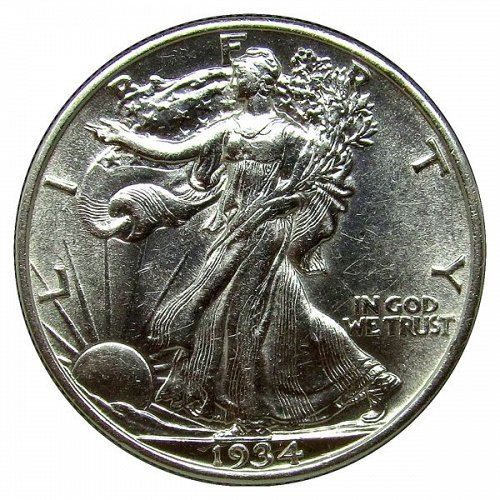 1934 Walking Liberty Half Dollar - BU