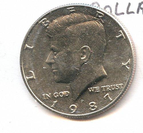 1987 Kennedy half dollar Philadelphia BU Clad