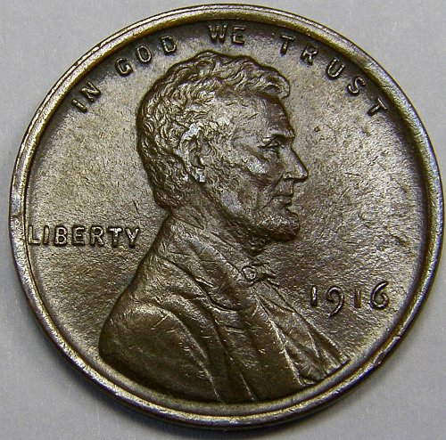 1916 P Lincoln Wheat Cent #5