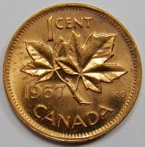 1957 Canada Cent #11