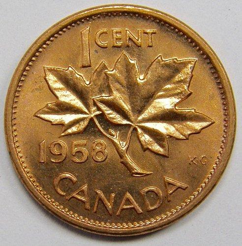 1958 Canada Cent #11