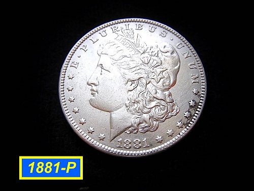 1881-P Morgan Silver Dollar 🎯 Circulated with XF-AU Design Details    (#5200)