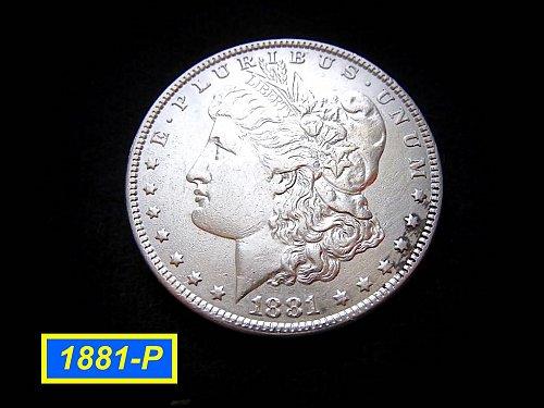 1881-P Morgan Silver Dollar 🎯 Circulated with XF-AU Design Details    (#5200)