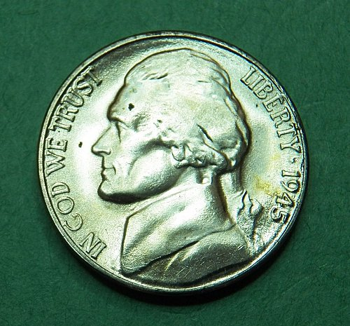 1945 S Silver War Nickel Brilliant Uncirculated Coin     g04