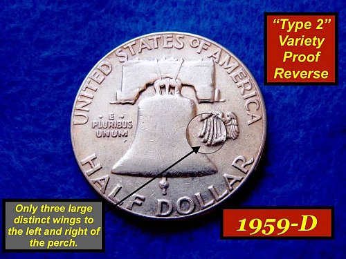 "1959-P  ""Type II"" Franklin Half Dollar –  Circulated Condition (1381)"