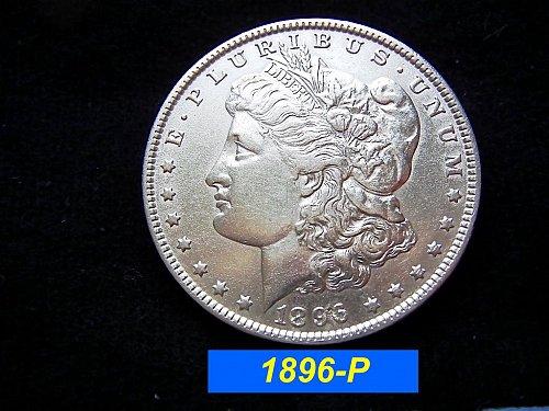1896-P Morgan Silver Dollar 🎯 Circulated XF (#5201)