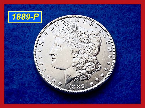 """1889-P Morgan Silver Dollar 🎯 """"XF-AU"""" (#5178)"""