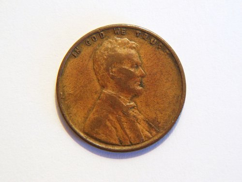 *Very RARE* ???? Lincoln Wheat Cent, Missing Date and Liberty, Weak Strike Error