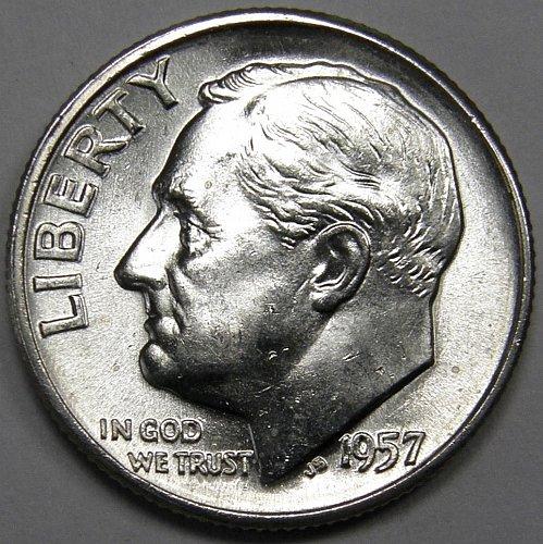 1957 P Roosevelt Dime #1