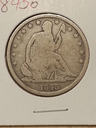 1843-O Seated Liberty Half