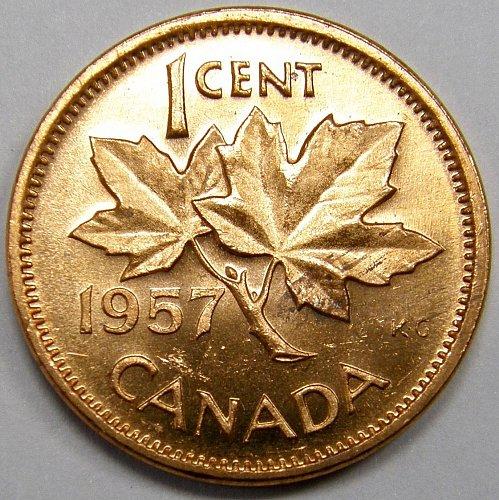 1957 Canada Cent #12