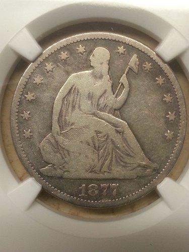 1877-CC Seated Liberty Half NGC VG-8