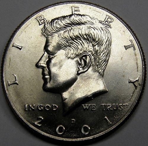 2001 D Kennedy Half Dollar