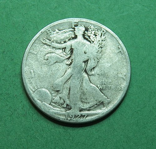 1927 S Walking Liberty Half Dollar    f18u