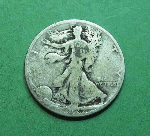 1927 S Walking Liberty Half Dollar    f18t